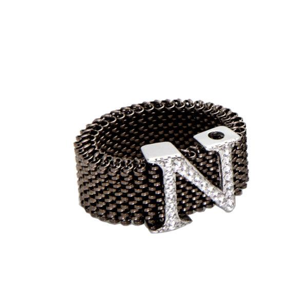 Anello-lettera-linea-flex-roan-preziosi-gioielli