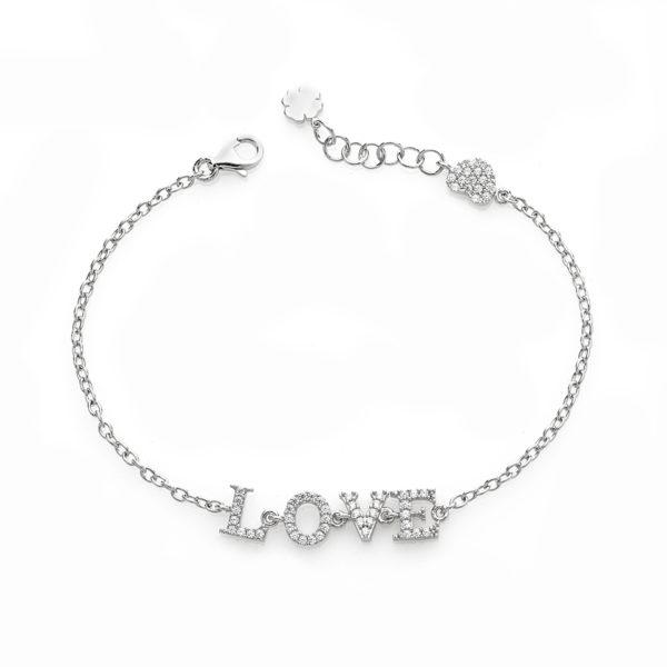 Bracciale-catena-scritta-2-linea-easy-roan-preziosi-gioielli