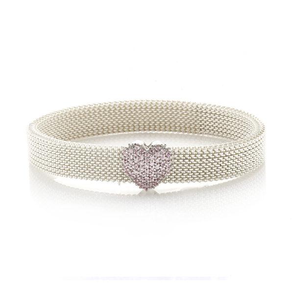Bracciale-simbolo-cuore-flex-roan-preziosi-gioielli