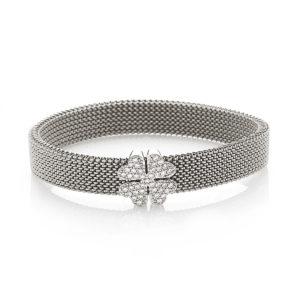 Bracciale-simbolo-quadrifoglio-flex-roan-preziosi-gioielli