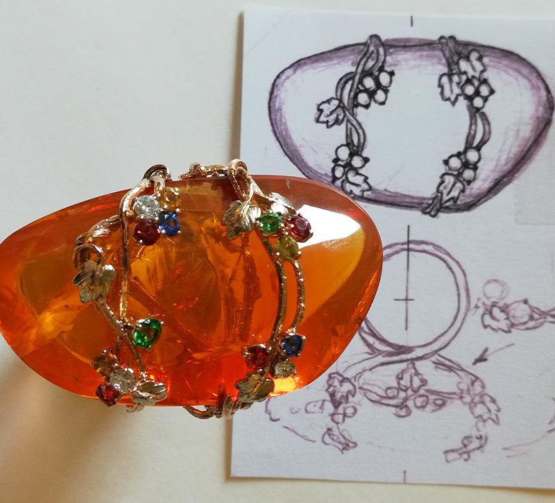 Progetto gioiello personalizzato Roan Preziosi
